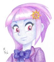 Sunny Flare colored pencil portrait by mayorlight