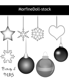 MDS ChristmasOrnaments by MorfineDoll-stock