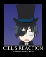 Ciel's Reaction by catgirl3157