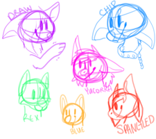 Chibi sketches by catsnips