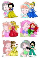 Chibi Princesses by lilmermaid-club