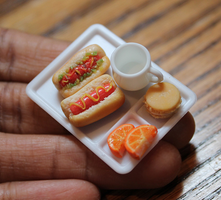 Miniature hotdog lunch by WaterGleam