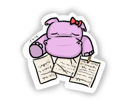 Sleepy hippo in her study by Haxzure