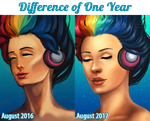 Difference of One Year [Rainbow] by Ode-Chan