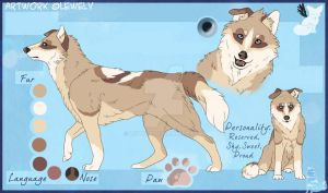 Dog-wolf_Paypal or points AUCTION_Closed by LewKat
