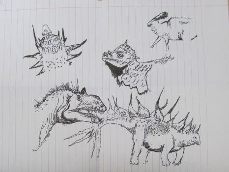 Dinosaur Sketches by Philoceratops