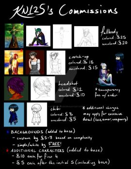 KN'S COMMISSION PRICES by Kittyninja125