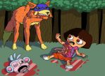 Dora goes explorin' by OllieLamontagne