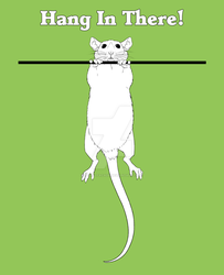 Hang in There Rat by FeralFacade