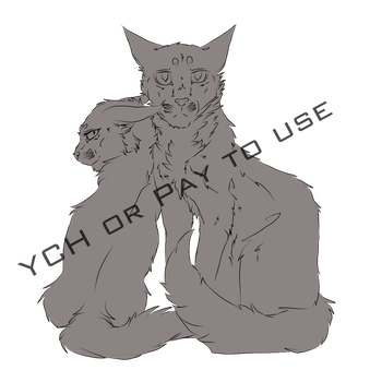 Two cats Pay to use or YCH by Forever--Tainted