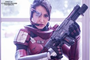 Mass Effect - Commander Shepard by Yohann Franco by Socracboum