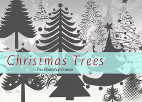 15 Free Christmas Tree Brushes for Photoshop by fiftyfivepixels