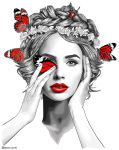 RED: Red butterfly by Dianaoneinamillion