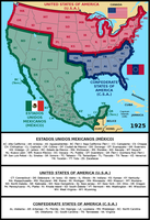 Greater Mexico, USA and CSA (1925) by matritum
