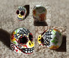 Sugar Skull 1 SOLD by angelacapel