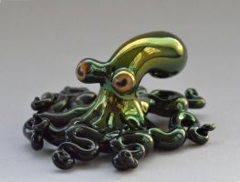 Octopus Sculpture, glass by cold-in-the-north