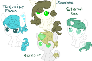uniqueXneon foals! (adopts) by Deep-Fried-Love