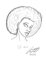 Afro - 15 min Sketch by DeForrest