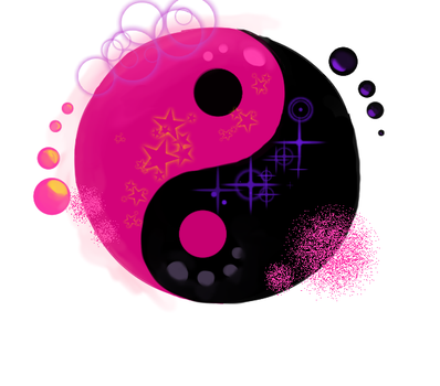 Yin Yang Purple ad Black by homestuckfan2022