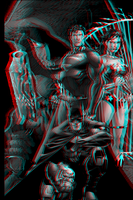 Superman, Batman and WW (test Pure Anaglyphe 3.50) by xmancyclops