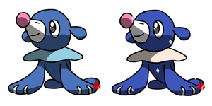Pokemon #728 - Popplio by Fyreglyphs
