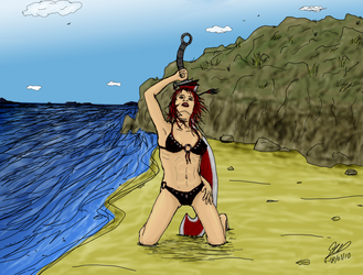 Alix on the beach by wyky