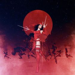 Elektra: Red Moon And Fireflies by maxx0