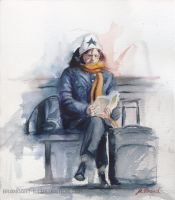 Waiting at Trainstation by embrand78