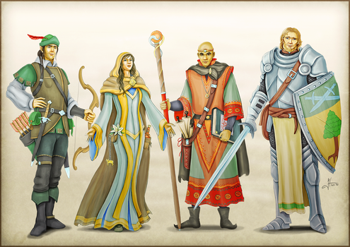 Classical Adventurers  of Aloran by Iphis