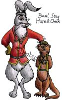 Basil Stag Hare and Cheek by DCLeadboot