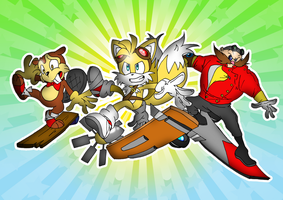 Sonic Boom Riders by thegreatrouge
