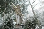 Angel in the Snow at the Cemetery of Frankfurt by enaruna
