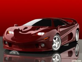Concept car Wallpaper 01 RED by mmarti