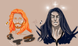 Aule and Melkor by KTDSI