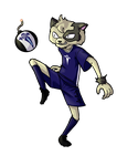 Commission: Gato Futbolero by ACPuig