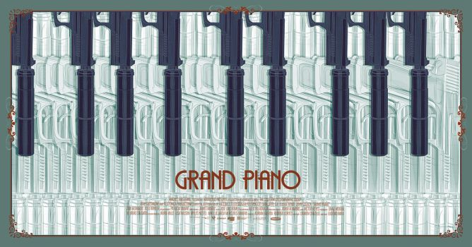 'Grand Piano' vector poster by metalraj