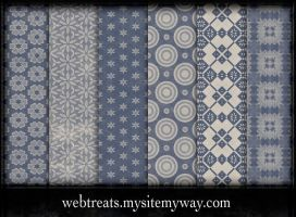 Free Faded Blue Patterns by WebTreatsETC