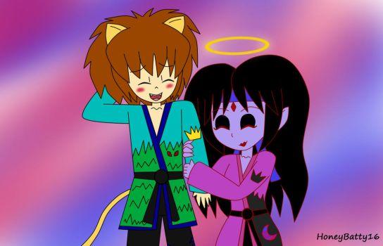 King Lionel and Queen Elmira karate outfits by HoneyBatty16