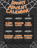 2017 DAINTY HALLOWEEN ADVENT CALENDAR- {CLOSED} by Pajuxi-Adopts