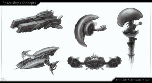 Space Ships concepts by Azot2017