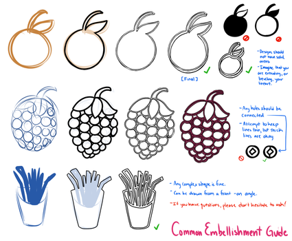 Creambuns - Common Embellishment Guide by celestialsunberry