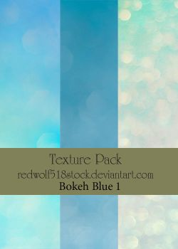 Texture Pack Bokeh Blue 1 by redwolf518stock