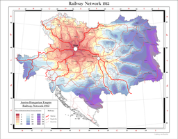 Austro-Hungarian Empire railway network 1912 by Arminius1871
