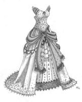 Black And White gown by roseannepage