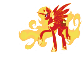Solar Flare - The Mare in the Sun by GlitchedChimera