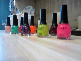 Spa Polishes by MyThoughtsAreDeep