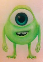 Young Mike Wazowski by xxcharlotteoxx