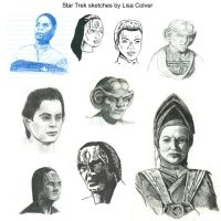 Star Trek Sketches by LMColver