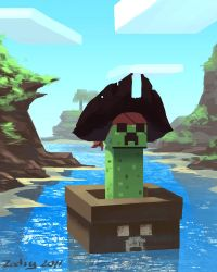 The minecraft creeper pirate by Zedig