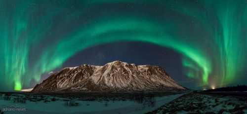 Northern Lights over the Milky Way by acseven